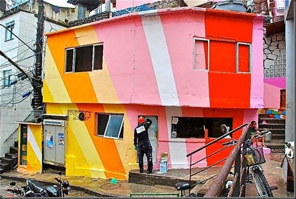 Pinturas coloridas na Favela de Santa Marta no RJ (9)