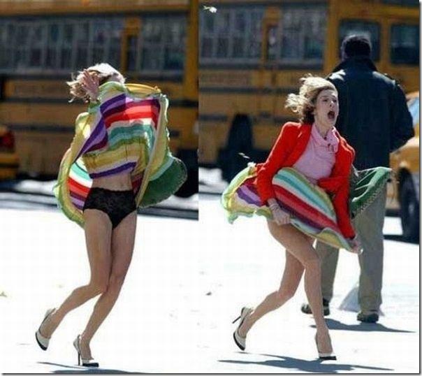 Belas garotas de mini saia   vento = Uma combinação perfeita (48)