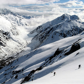 Team by Matthew Robertson - Landscapes Mountains & Hills ( climbing, mountains, snow, mountaineering, summit )