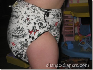 diaper side standing