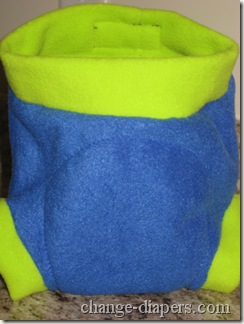 fleece diaper cover front