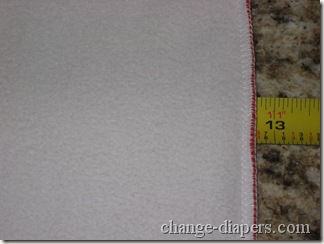 width of planet wise changing pad