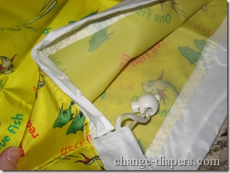 Inner and drawstring of bumkins wetbag