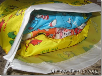 3 large diapers in wet bag