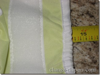 staged diaper cover medium stretched
