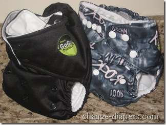 GoGreen Standard vs Champ Pocket Diaper