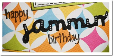 jammin bday card words