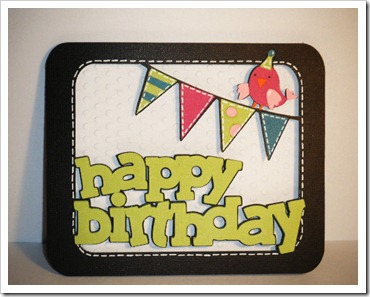 birthday window banner card