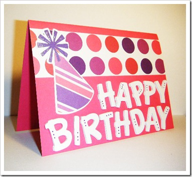 birthday hat card 2
