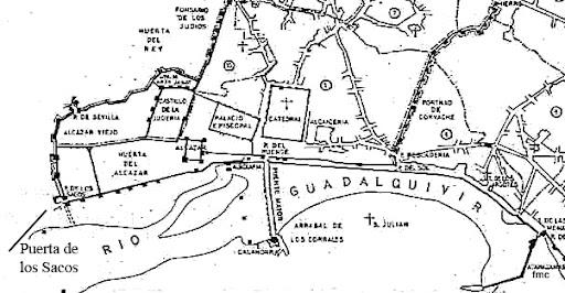 Plano de las Puertas de Córdoba.