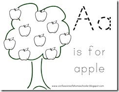 Letter A for Apple - Confessions of a Homeschooler