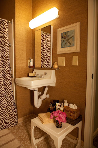 Add zing to bathroom with misc furniture