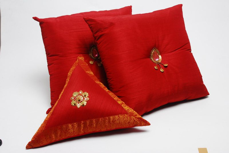 Red Sequined Cushion