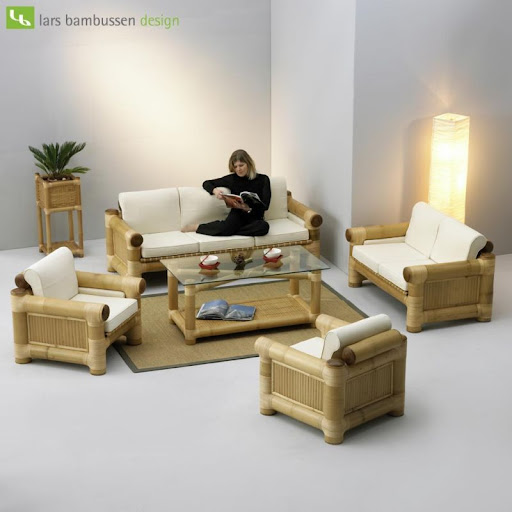 Living Room Bamboo Sofas