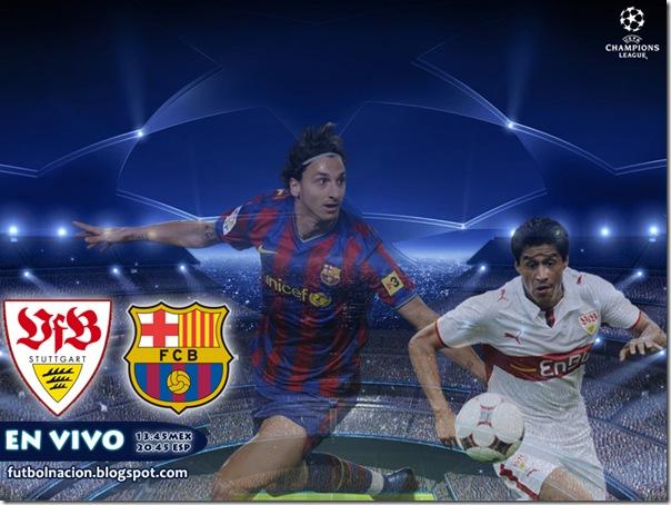 stuttgart vs barcelona en vivo live