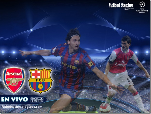 arsenal vs barcelona uefa champions league 2010 en vivo