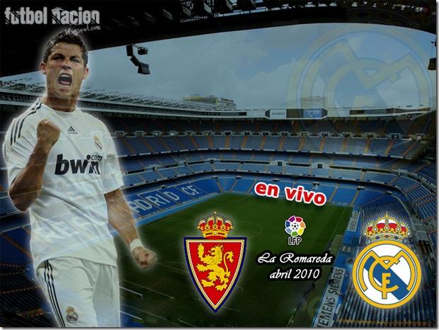 zaragoza vs real madrid en vivo -la liga-2010