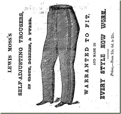 Self-adjusting trousers (1860)