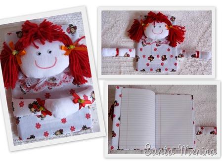 Caderno de bonequinha