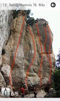 Screenshot of Climbing App