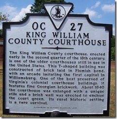 King William County Courthouse Marker OC-27