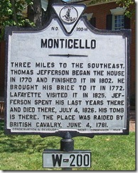 Monticello Marker W-200 Close-up