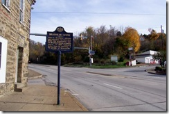 Brashear House Marker looking east on old Route 40