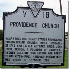 Providence Church Marker V-19  (Click to Enlarge)
