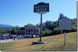 Natural Bridge Visitors Center and Entrance in Background