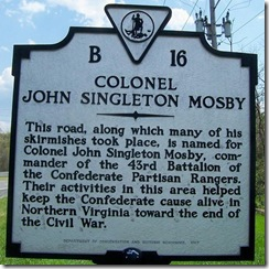 Colonel John Singleton Mosby Marker B-16 (Click to Enlarge)