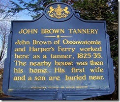 John Brown Tannery Second Marker, Crawford Co., PA