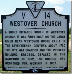 Westover Church Marker No. V-14