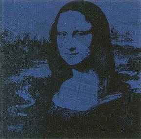 Blue Warhol Mona