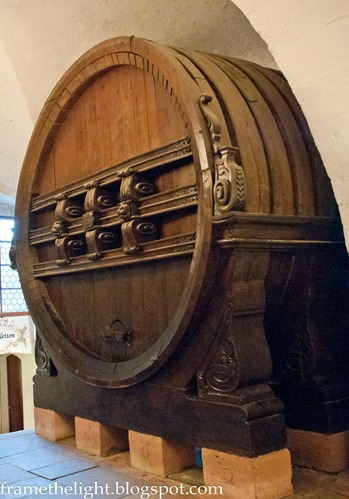 Huge wine barrel