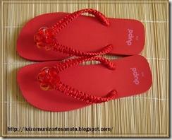 Sandalia vermelha 1