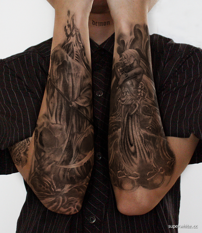 On 11.06.09, In Animal Tattoos, Evil Tattoos, black ink, black ink, by admin