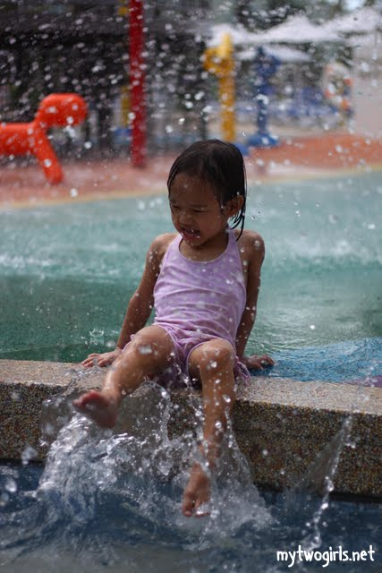 Zaria at the Hard Rock water play area
