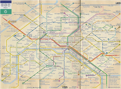 Mapa do metrô de Paris