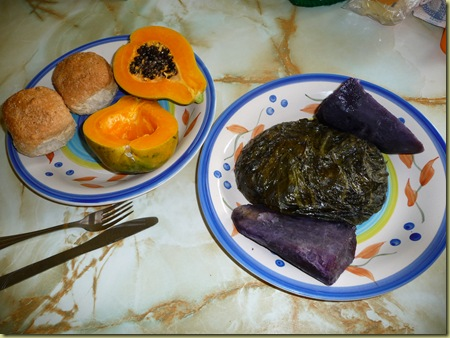 Lupulu, Hawaiian yams, and Hawaiian Papaya