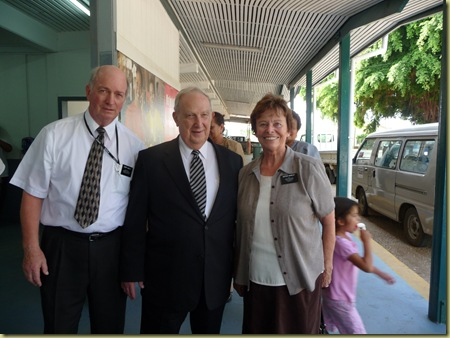 Elder Scott graciously has his picture taken with us