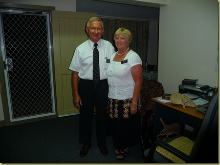 Elder and Sister Garrett (medcal nurse for missionaries)