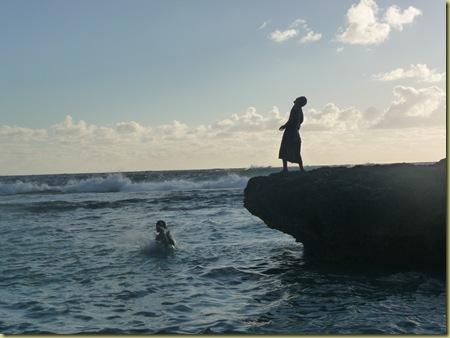 Tongan boys call in the big waves