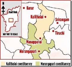 Manapparai Map
