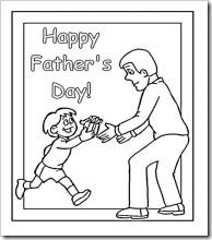 colorear día del padre en inglés