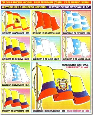 La bandera de Ecuador con los