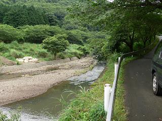 右岸下流側より河川を望む