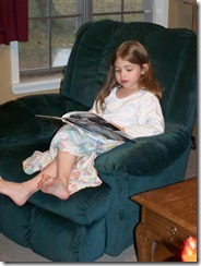 Angie reading
