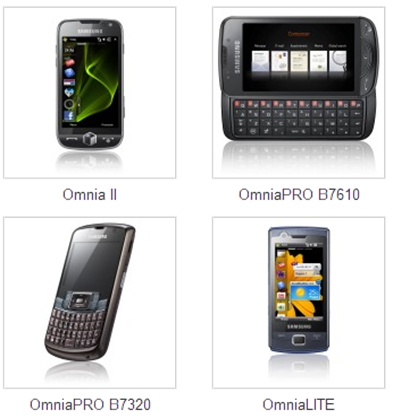 SamsungOmniaDevices
