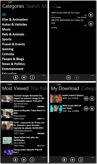 SuperTube-for-Windows Phone 7