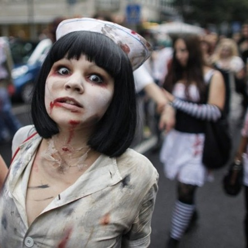 Zombie Parade in Frankfurt, Germany